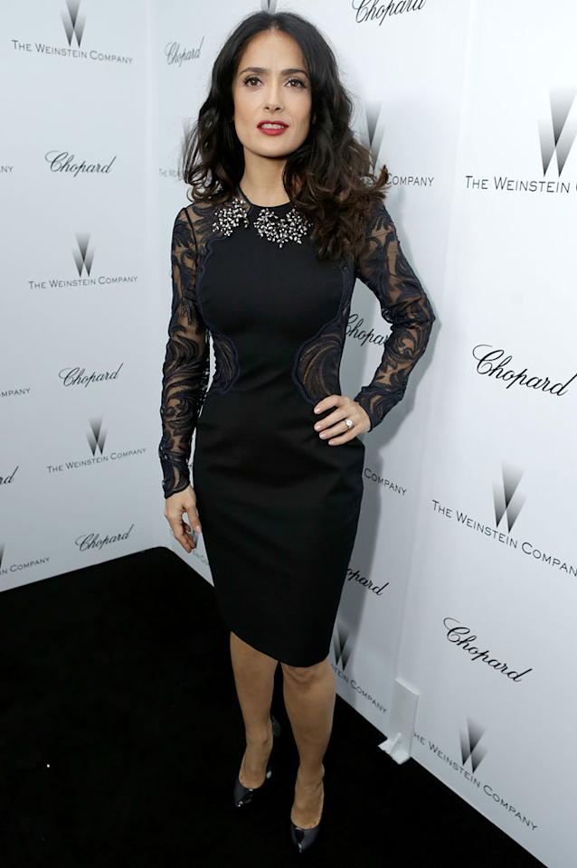 Salma Hayek attends The Weinstein Company Academy Award Party hosted by Chopard at Soho House on February 23, 2013 in West Hollywood, California.