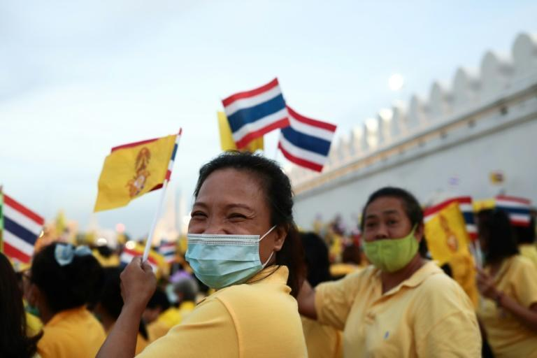 The Thai monarchists were dressed in yellow, the royal colour