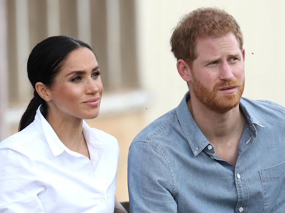 <p>Prince Harry, Duke of Sussex and Meghan, Duchess of Sussex pictured in Australia. </p> ((Photo by Chris Jackson - Pool/Getty Images))