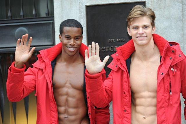 Abercrombie & Fitch, a company known for its scantily clad models, is exploring a sale after years of declining business. (Photo: Getty Images)