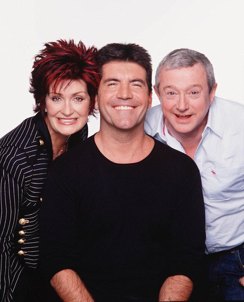 The original line-up: Sharon Osbourne, Simon Cowell and Louis Walsh