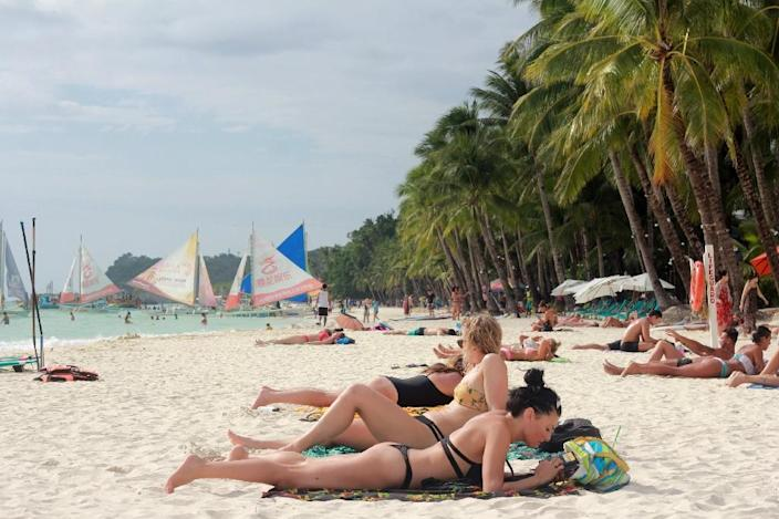 Boracay is consistently rated by major tourist magazines as among the world's best beaches (AFP Photo/-)