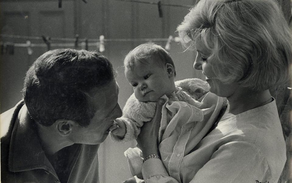 Newman, Woodward and daughter - Courtesy of Clea Newman