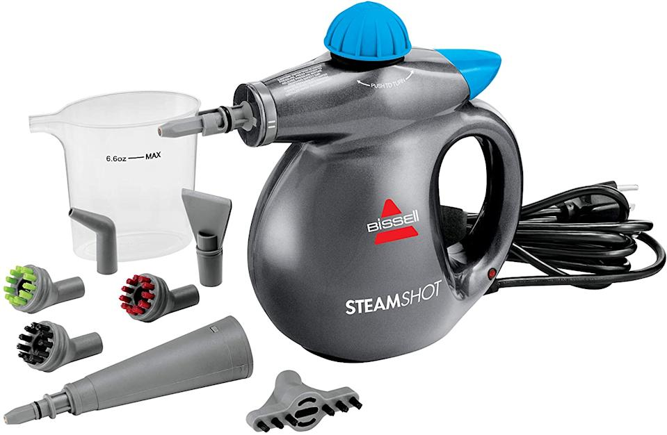 """<br><br><strong>Bissell</strong> Steam Shot 39N7V, $, available at <a href=""""https://amzn.to/32ZRCrZ"""" rel=""""nofollow noopener"""" target=""""_blank"""" data-ylk=""""slk:Amazon"""" class=""""link rapid-noclick-resp"""">Amazon</a>"""