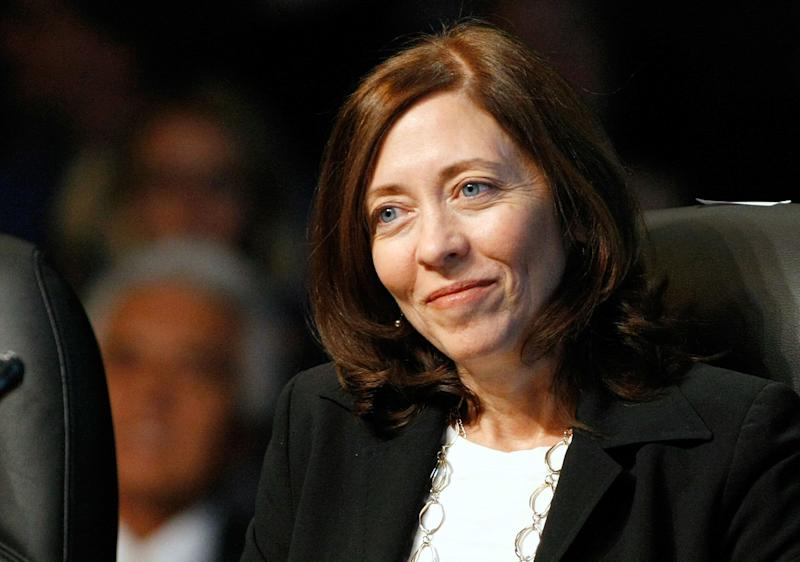 """<a href=""""http://www.senate.gov/artandhistory/history/common/briefing/women_senators.htm""""><strong>Served from:</strong></a> 2001 to present Sen. Maria Cantwell (D-Wash.) attends the National Clean Energy Summit 2.0 on August 10, 2009 in Las Vegas. (Photo by Ethan Miller/Getty Images)"""