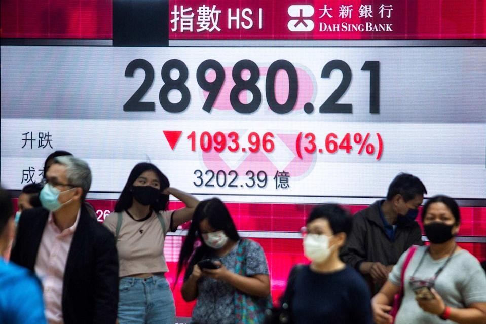 The Hang Seng Index has lost momentum in recent days. Photo: AFP