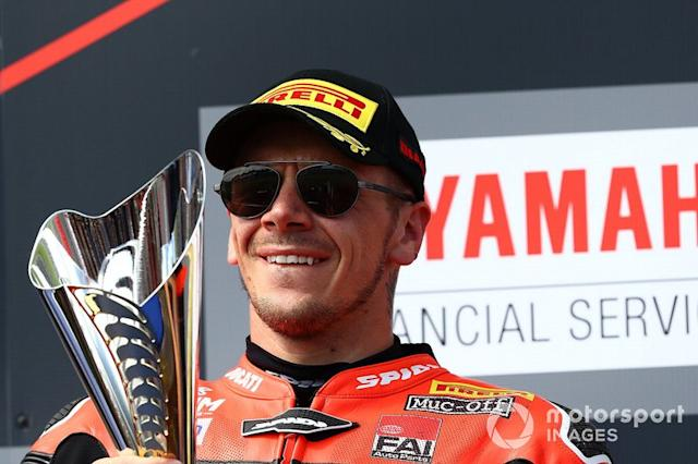 "Podium: third place Scott Redding, Aruba.it Racing Ducati <span class=""copyright"">Gold and Goose / Motorsport Images</span>"