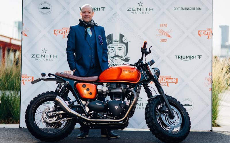 Rufus Hound at the 2017Distinguished Gentleman's Ride in London