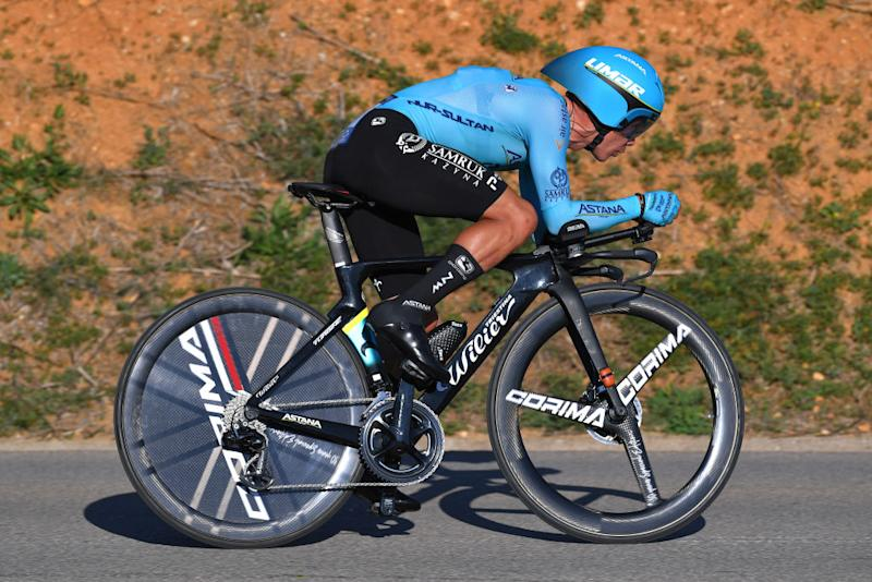 LAGOA PORTUGAL FEBRUARY 23 Miguel ngel Lpez of Colombia and Team Astana Pro Team during the 46th Volta ao Algarve 2020 Stage 5 a 203km Individual Time Trial stage from Lagoa to Lagoa ITT VAlgarve2020 on February 23 2020 in Lagoa Portugal Photo by Tim de WaeleGetty Images