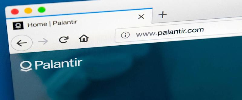 LONDON, UK - MARCH 29TH 2018: The homepage of the official website for Palantir Technologies - the private American software and services company, on 29th March 2018.