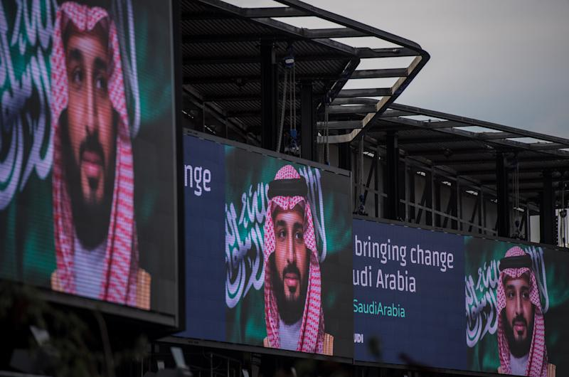 """Reformer"" Crown Prince Mohammed bin Salman's rhetoric is colliding with the reality of his rule. (Chris J Ratcliffe via Getty Images)"