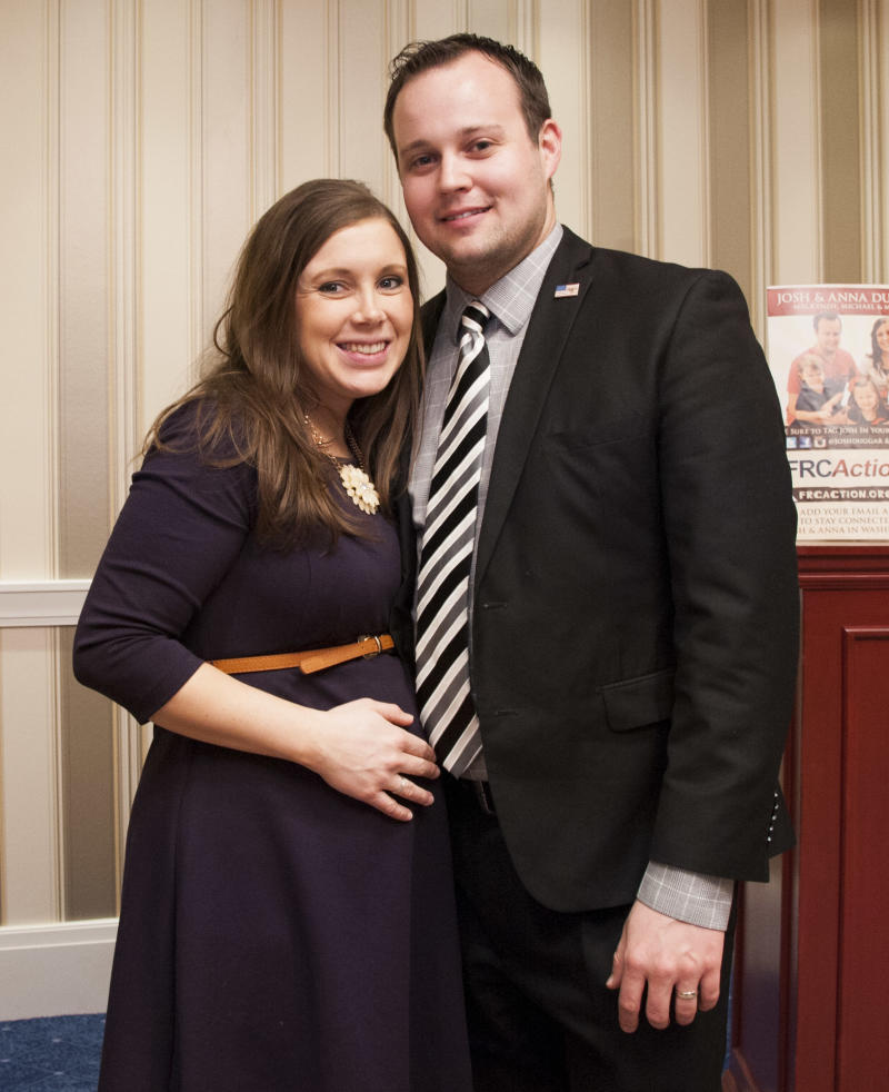 : Anna Duggar and Josh Duggar pose during the 42nd annual Conservative Political Action Conference in 2015.