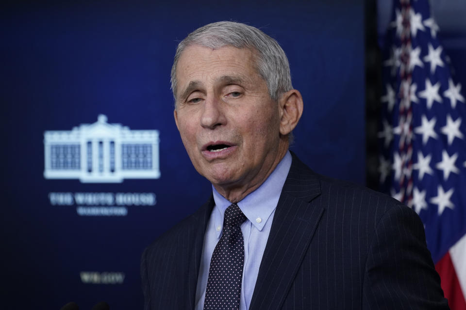 El doctor Anthony Fauci, director del Instituto Nacional de Alergias y Enfermedades Infecciosas de EEUU. (AP Photo/Alex Brandon)