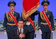FILE PHOTO: Kyrgyz President-elect Sadyr Japarov attends an inauguration ceremony in Bishkek