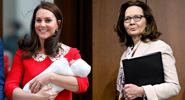 Kate Middleton, left, and Gina Haspel. (Photo: Getty Images)