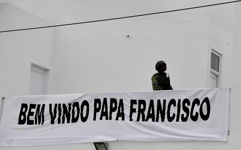 The Argentinian pope addressed the crowd in Portuguese