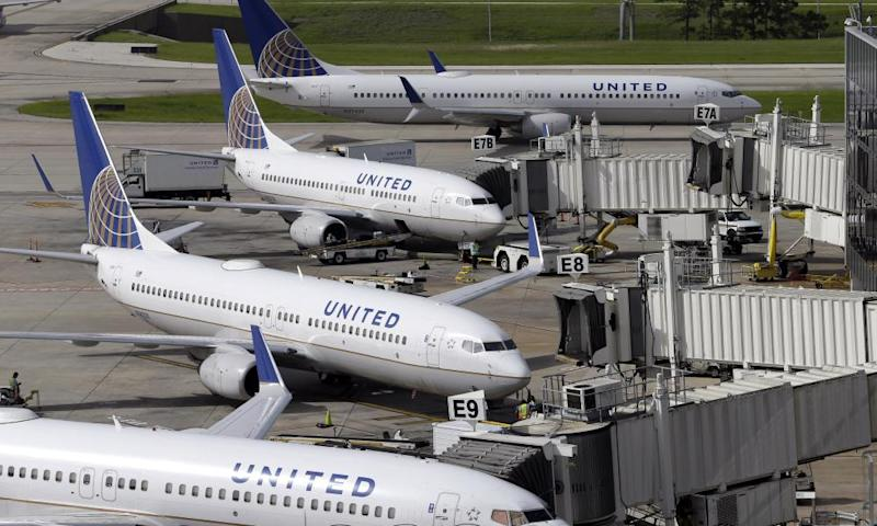 United Airlines planes at George Bush Intercontinental Airport in Houston.