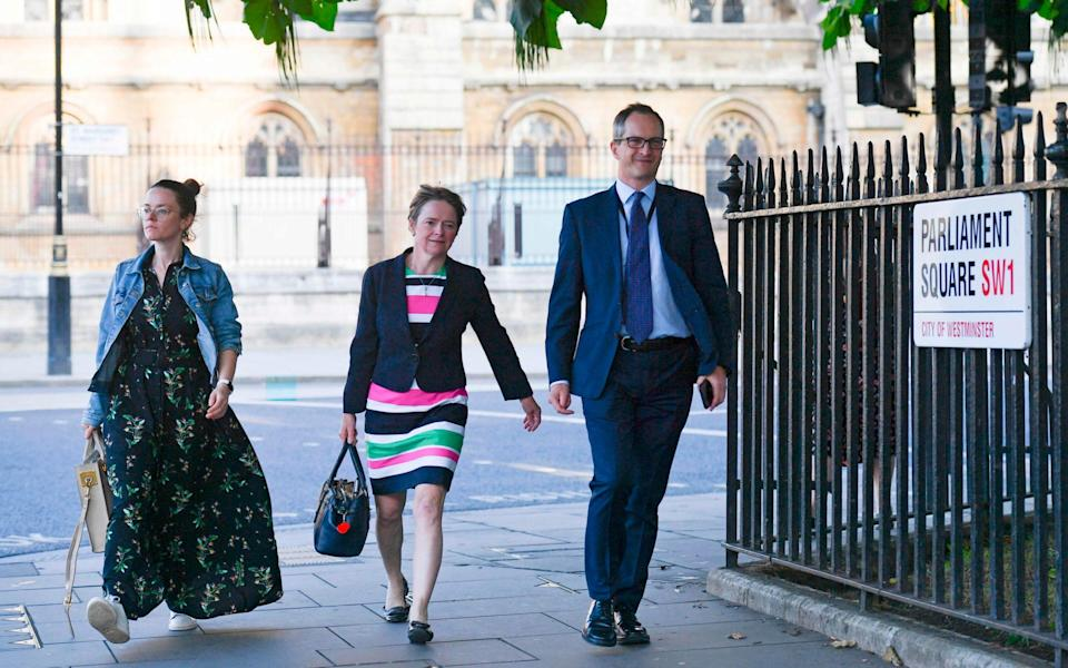 Lord Bethell (R) is under fire over his use of private emails - AFP