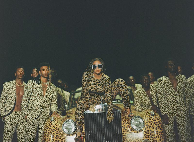 Beyoncé in a still from Black Is King. (Disney)