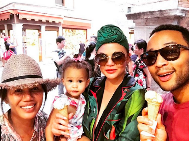 "<p>What would a trip to Italy be without a gelato stop? The family cured any sweet-tooth cravings by enjoying the popular dessert. (Photo: <a href=""https://www.instagram.com/p/BXbBtOkAi9_/?hl=en&taken-by=johnlegend"" rel=""nofollow noopener"" target=""_blank"" data-ylk=""slk:John Legend via Instagram"" class=""link rapid-noclick-resp"">John Legend via Instagram</a>) </p>"