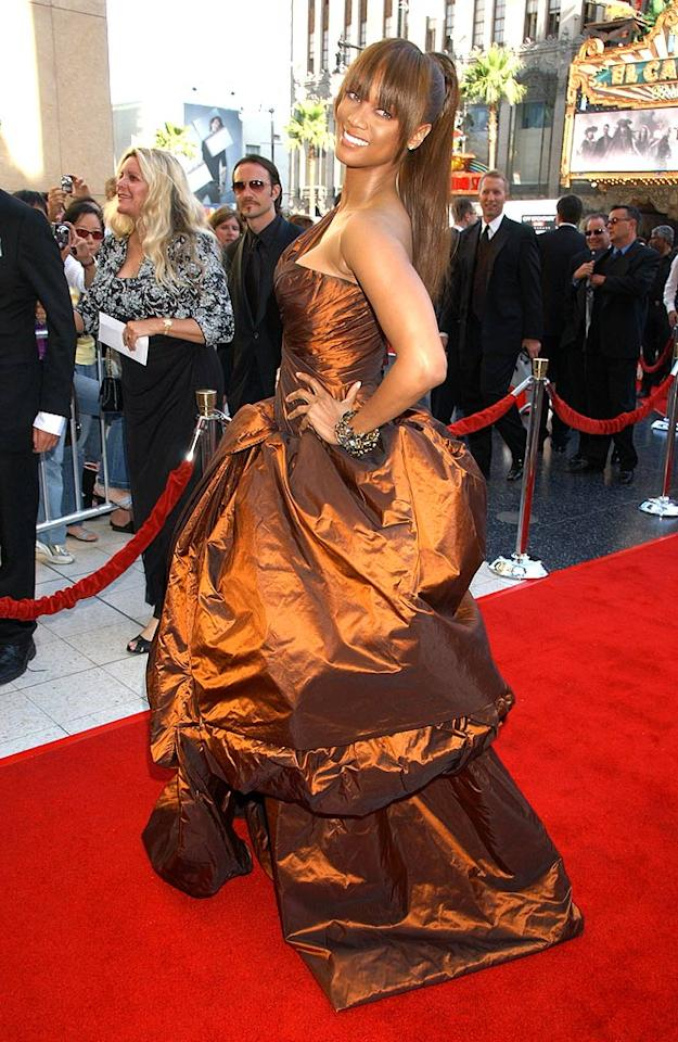 """<a href=""""/tyra-banks/contributor/32655"""">Tyra Banks</a> at the <a href=""""/34th-annual-daytime-emmy-awards/show/41788"""">34th Annual Daytime Emmy Awards</a>."""