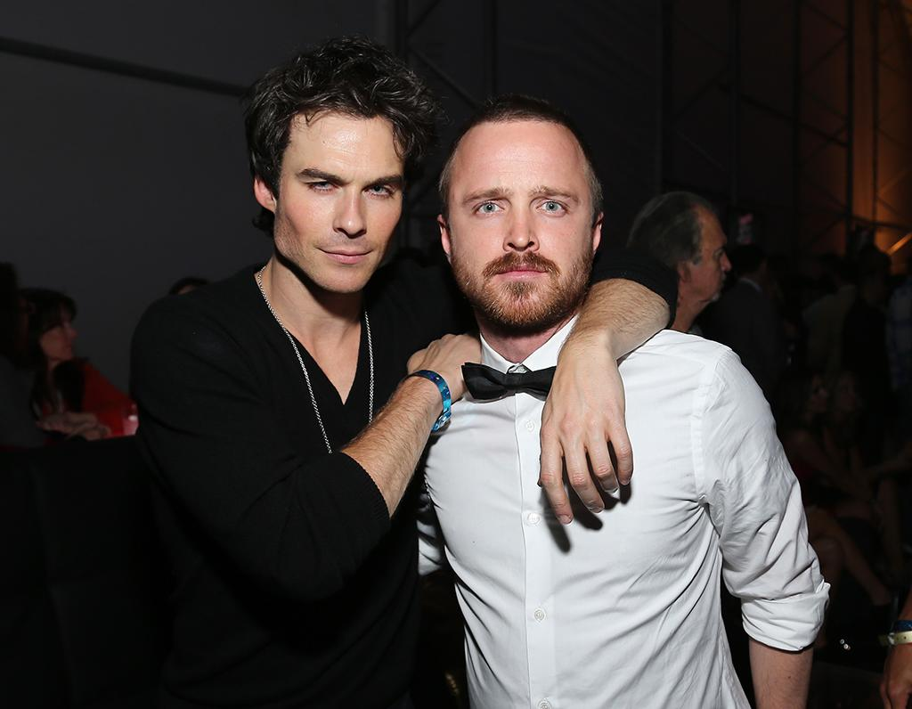 Ian Somerhalder and Aaron Paul attend DIRECTV Super Saturday Night Featuring Special Guest Justin Timberlake & Co-Hosted By Mark Cuban's AXS TV on February 2, 2013 in New Orleans, Louisiana.  (Photo by Neilson Barnard/Getty Images for DirecTV)