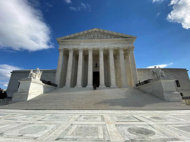 FILE PHOTO: The buliding of the U.S. Supreme Court is pictured in Washington