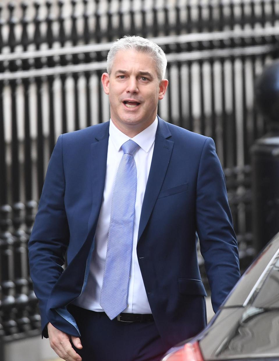 Brexit Secretary Stephen Barclay leaves Downing Street ahead of Prime Minister's Questions on Wednesday. (PA)
