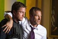 """<p>An ex-Secret Service agent is in charge of saving the president after an attack on the White House. </p> <p><a href=""""https://www.netflix.com/title/70259801?source=35"""" class=""""link rapid-noclick-resp"""" rel=""""nofollow noopener"""" target=""""_blank"""" data-ylk=""""slk:Watch Olympus Has Fallen on Netflix now."""">Watch <strong>Olympus Has Fallen</strong> on Netflix now.</a></p>"""
