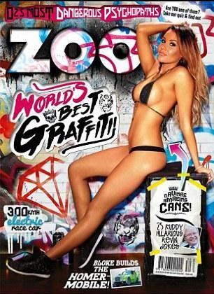 Covergirl Davina poses on the cover of Zoo magazine.