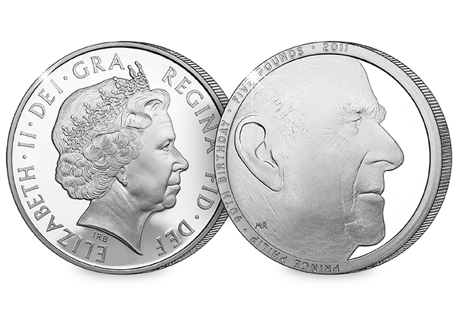 Prince Philip's 90th birthday was marked by this now highly collectable £5 coin (Royal Mint)