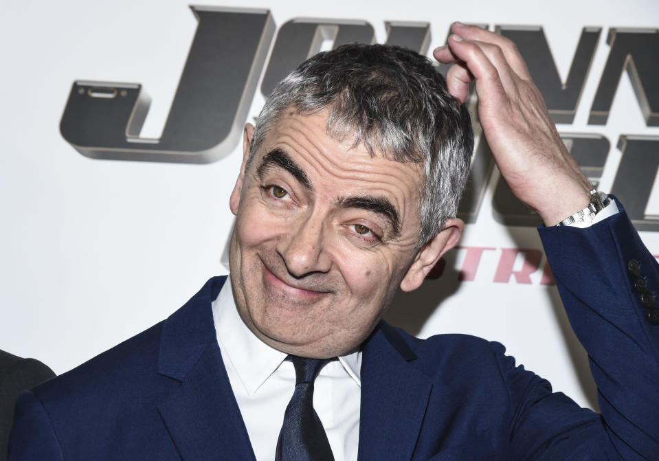 "NEW YORK, NY - OCTOBER 23:  Actor Rowan Atkinson attends the ""Johnny English Strikes Again"" New York Screening at AMC Lincoln Square Theater on October 23, 2018 in New York City.  (Photo by Daniel Zuchnik/Getty Images)"