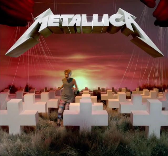 a 3D recreation of Metallica's 'Master of Puppets'