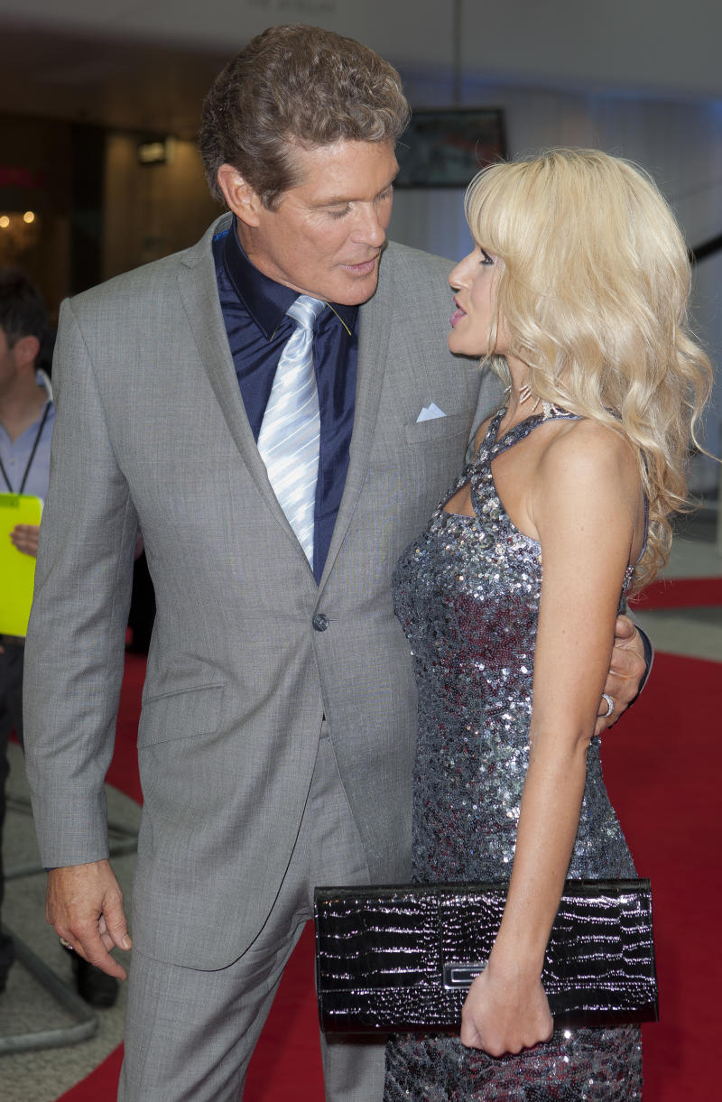U.S actor  David Hasslehoff, left, arrives for the World Premiere of Larry Crowne at Westfield in west London, Monday, June 6, 2011. (AP Photo/Joel Ryan)