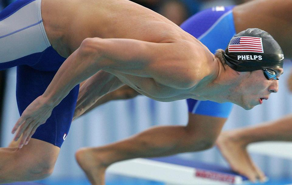<p>Just one year after his Olympic victory, Phelps was back and readier than ever to compete again. The swimmer earned a total of six medals, five golds and one silver, at the World Aquatics Championships. </p>