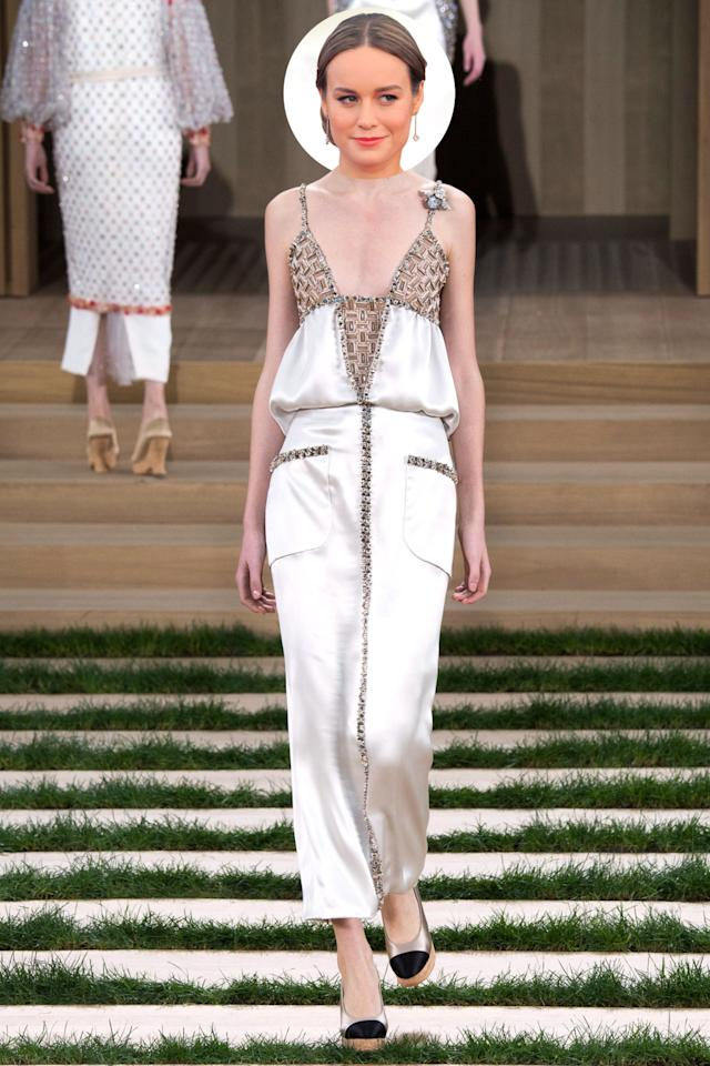 <p>The lead-actress favorite may have worn custom Calvin Klein at the Golden Globes and Atelier Versace at the SAGs, but we're hoping she arrives in this youthful yet sophisticated Chanel Couture number for her big night.</p>