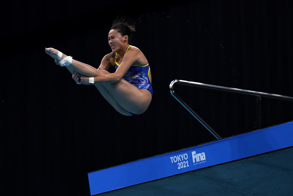 Singapore diver Freida Lim during the Fina Diving World Cup in May.