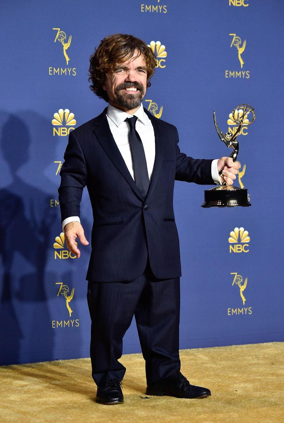 <p>Peter Dinklage, who plays Tyrion Lannister, in 2018.</p>