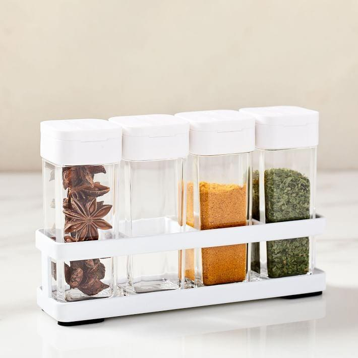<p>Keep your pantry organized with the <span>Yamazaki Spice Bottles With Rack</span> ($33).</p>