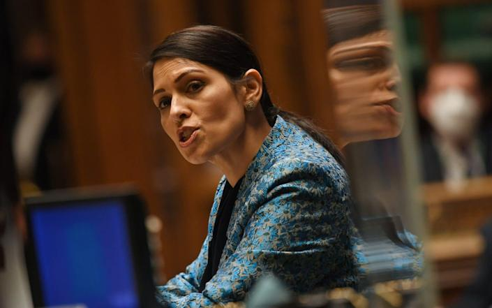 Priti Patel, the Home Secretary, has ordered the Home Office to scrap the courses for staff - Jessica Taylor/Via Reuters