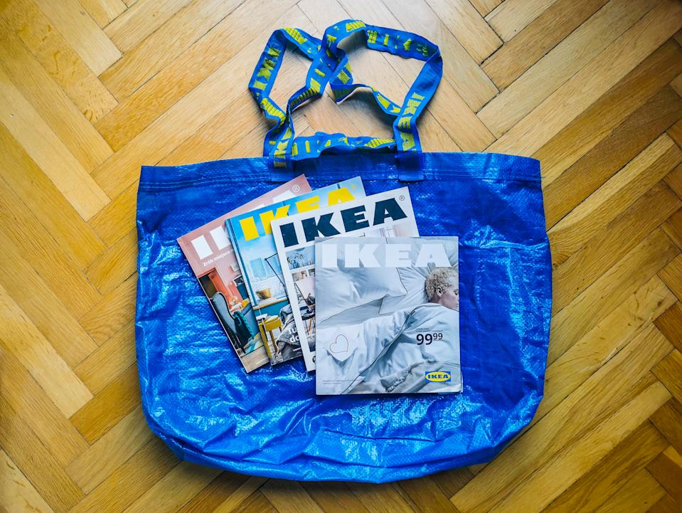 Ikea printed catalogues are seen in this illustration photo taken in Poland on December 8, 2020. Ikea annouced that next year will be the last for publication of a printing catalogue after 70-year run. (Photo by Beata Zawrzel/NurPhoto via Getty Images)