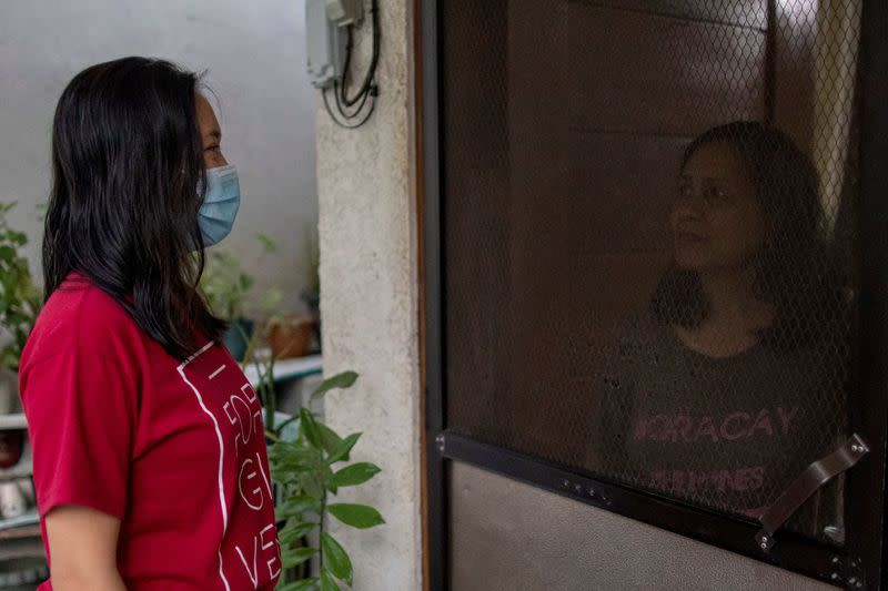 Between duty and family: Philippines doctor isolates at home after work