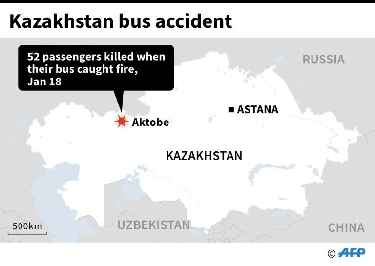 Map locating deadly bus accident