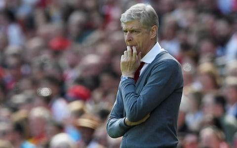 <span>Arsene Wenger cut a more relaxed figure on the touchline</span> <span>Credit: REUTERS </span>