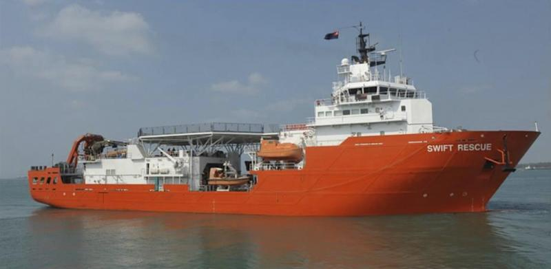 A file photo of Singaporean submarine support and rescue vessel, MV Swift Rescue, which has joined the search for missing Malaysian Airlines flight MH370. – Reuters pic, March 10, 2014.