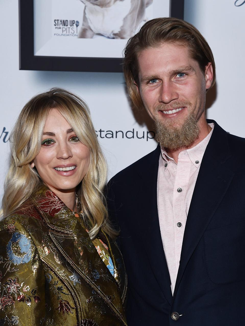 """Kaley Cuoco  and her husband, equestrian Karl Cook, moved into their new home together when the pandemic shut down production of HBO Max's """"The Flight Attendant"""" in March."""