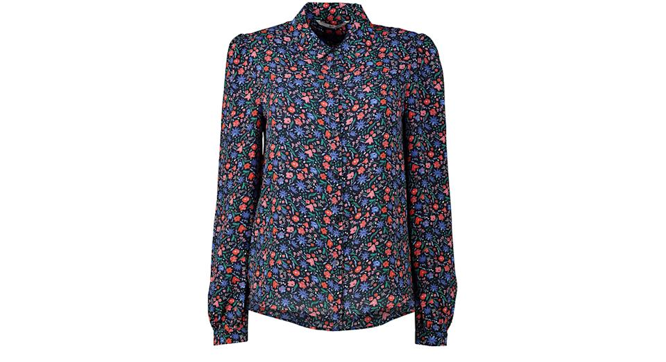 Red & Blue Floral Shirt