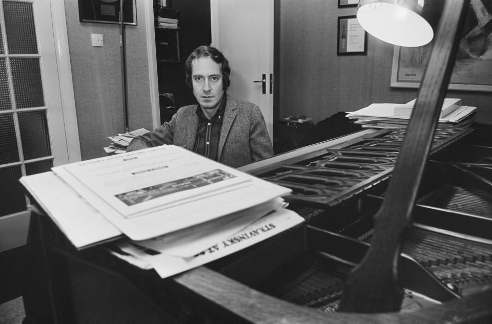 British composer John Barry at his piano, UK, 20th December 1967. He is perhaps best known for the theme to the James Bond films.  (Photo by Larry Ellis/Express/Getty Images)