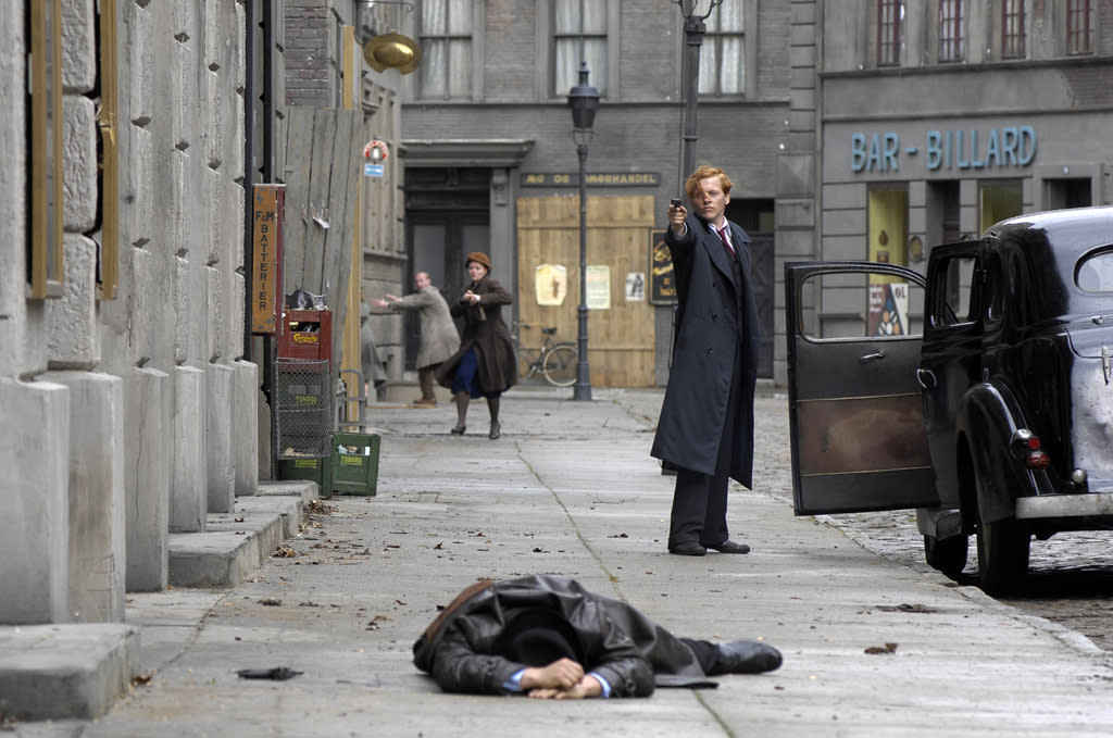 """<a href=""""http://movies.yahoo.com/movie/contributor/1808881438"""">Thure Lindhardt</a> in IFC Films' <a href=""""http://movies.yahoo.com/movie/1809989964/info"""">Flame & Citron</a> - 2009"""