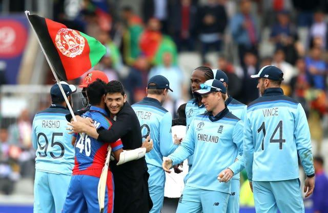 England last played Afghanistan in the 2019 World Cup.